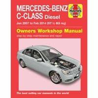 Haynes Manual Mercedes C-Class Jun 2007 - Feb 14 Diesel 2.1 C220 C250 C200